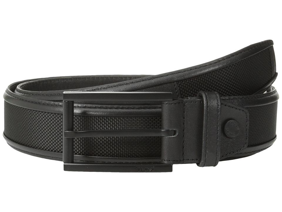 Tumi - Ballistic Belt (Black/Black) Men's Belts