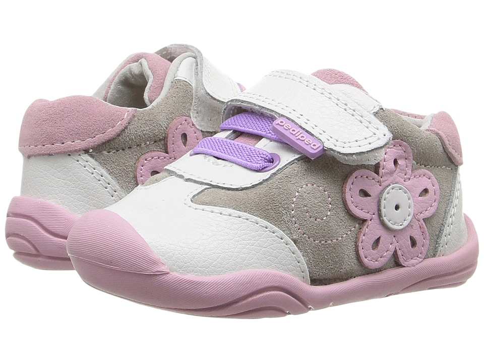 pediped Claudia Grip n Go (Toddler) (White/Pink) Girl's Shoes
