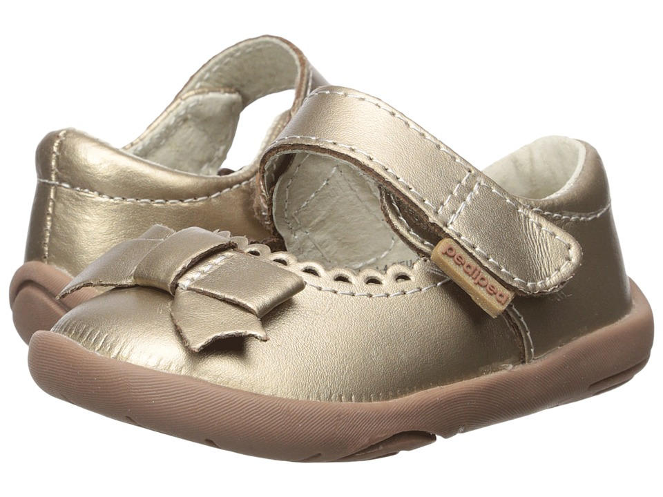 pediped Betty Grip n Go (Toddler) (Champagne) Girl's Shoes