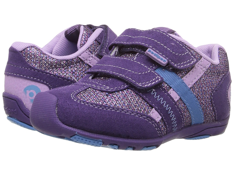 pediped Gehrig Flex (Toddler/Little Kid) (Purple Lily) Girl's Shoes