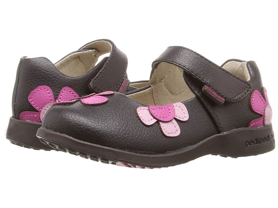 pediped Abigail Flex (Toddler/Little Kid) (Chocolate) Girl's Shoes