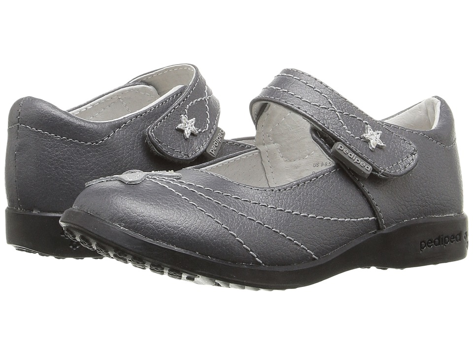 pediped Starlite Flex (Toddler/Little Kid) (Pewter) Girl's Shoes