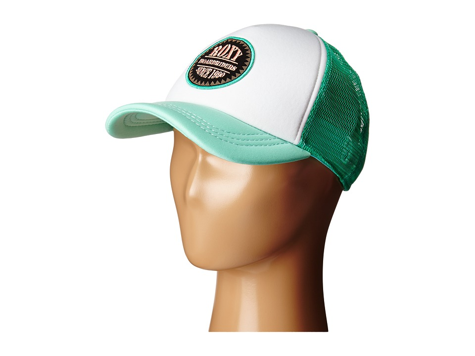 Roxy Truckin Trucker Hat Electric Green Caps
