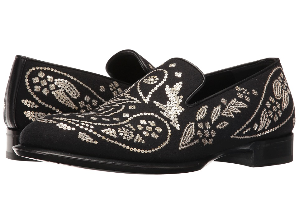 Alexander McQueen Embroidered Slip-On (Black/Light Gold) Men