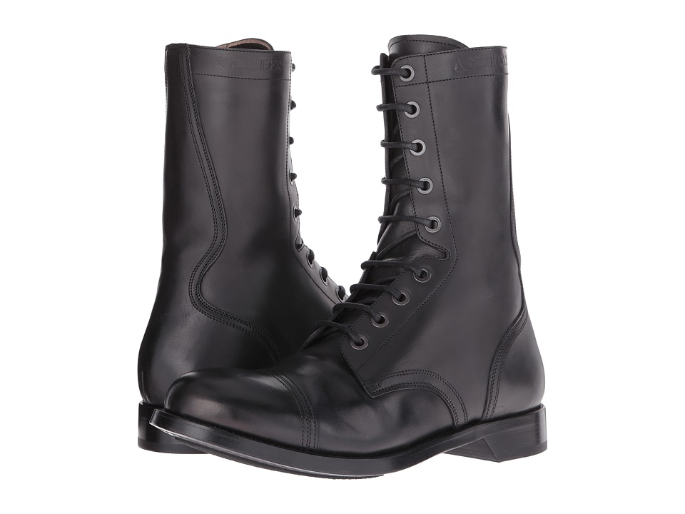 Alexander McQueen Tall Lace-Up Boot (Black) Men