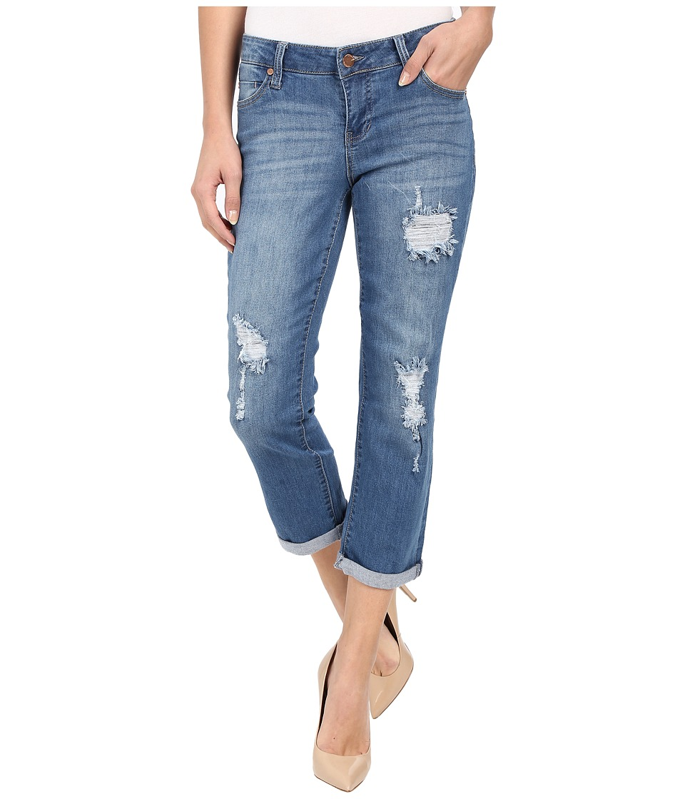 Liverpool - Corey Cropped Boyfriend Jeans in Melbourne Light Blue (Melbourne Light Blue) Womens Jeans