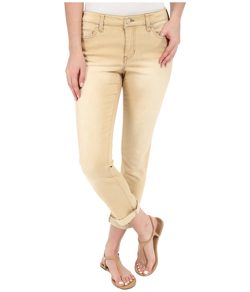 Liverpool Cami Crop Denim Jeans in Light Khaki Light Khaki Womens Jeans