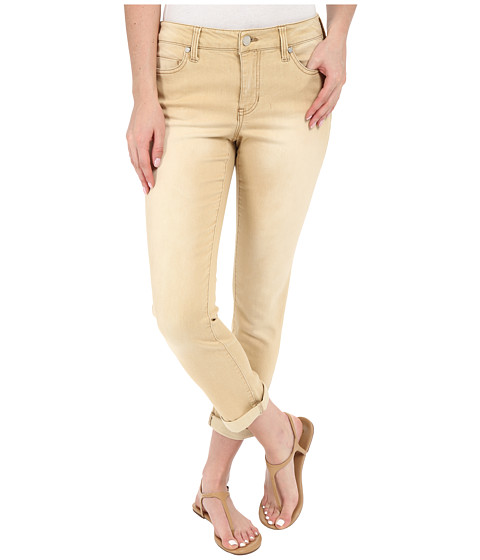 Liverpool Cami Crop Denim Jeans in Light Khaki
