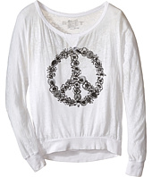 The Original Retro Brand Kids - Burnout Pullover w/ Floral Peace Sign (Little Kids/Big Kids)
