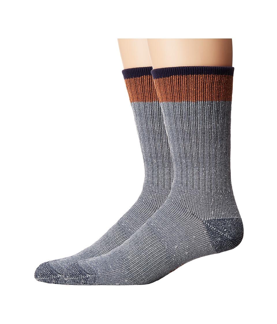 Timberland - Rugged Crew 2-Pack Socks (Gold Flame/Brown) Men's Crew Cut Socks Shoes