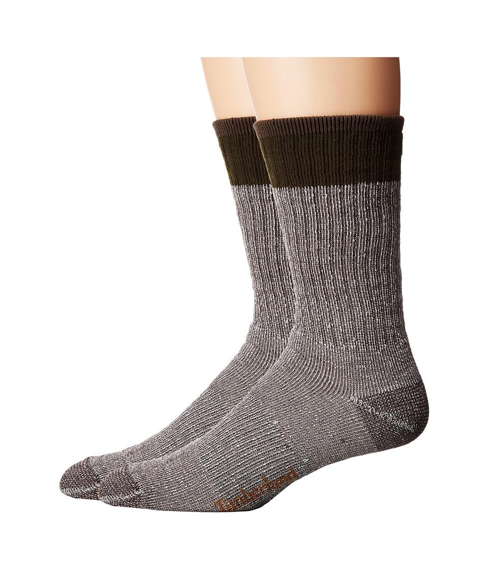 Timberland - Rugged Crew 2-Pack Socks (Thyme/Navy) Men's Crew Cut Socks Shoes