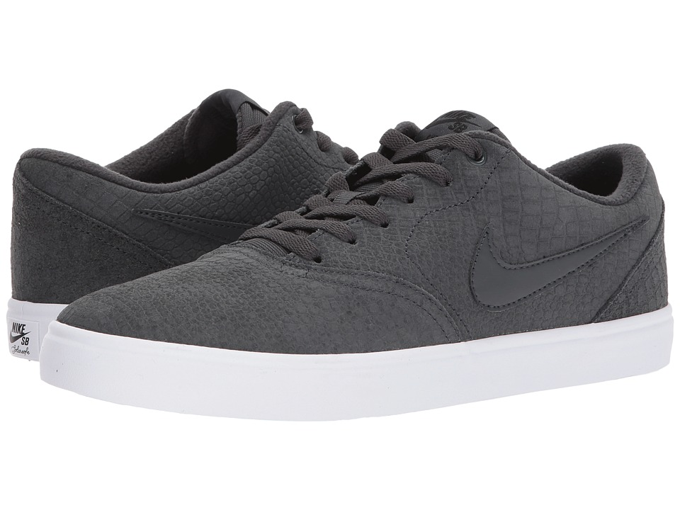 Nike SB - Check Solar Premium (Anthracite/Anthracite/White) Mens Skate Shoes