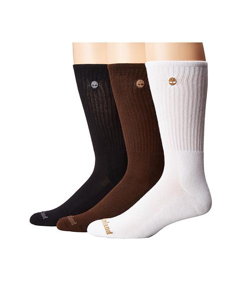 Timberland Classic 3-Pack Boot Crew Socks White/Black ...