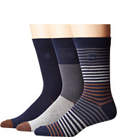 Timberland - Pattern 3-Pack Crew Socks