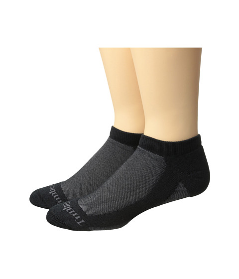 Timberland Coolmax Fabric 2-Pack No Show Socks - Black