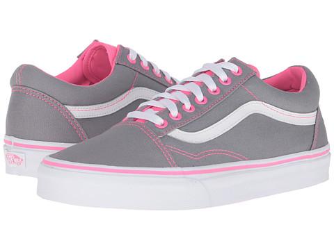 Vans Old Skool™ - (Canvas) Frost Grey/Neon Pink Pop