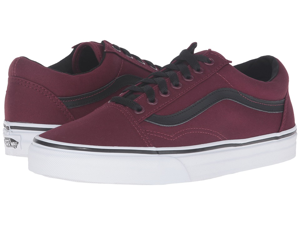 Vans Old Skool ((Canvas) Windsor Wine/True White) Skate Shoes