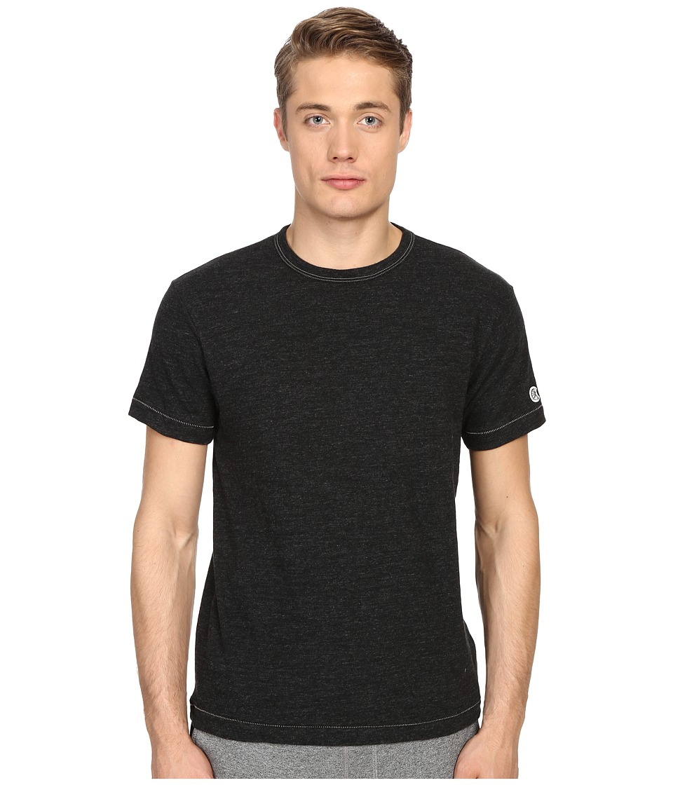 Todd Snyder Champion Heathered Basic Tee Black Mix Mens T Shirt