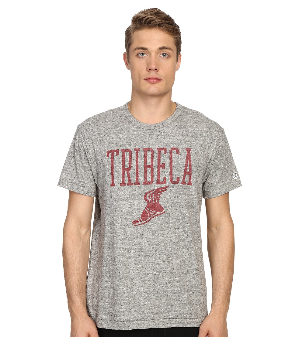 Todd Snyder Champion Tribeca Graphic Tee Antique Grey Mix Mens T Shirt