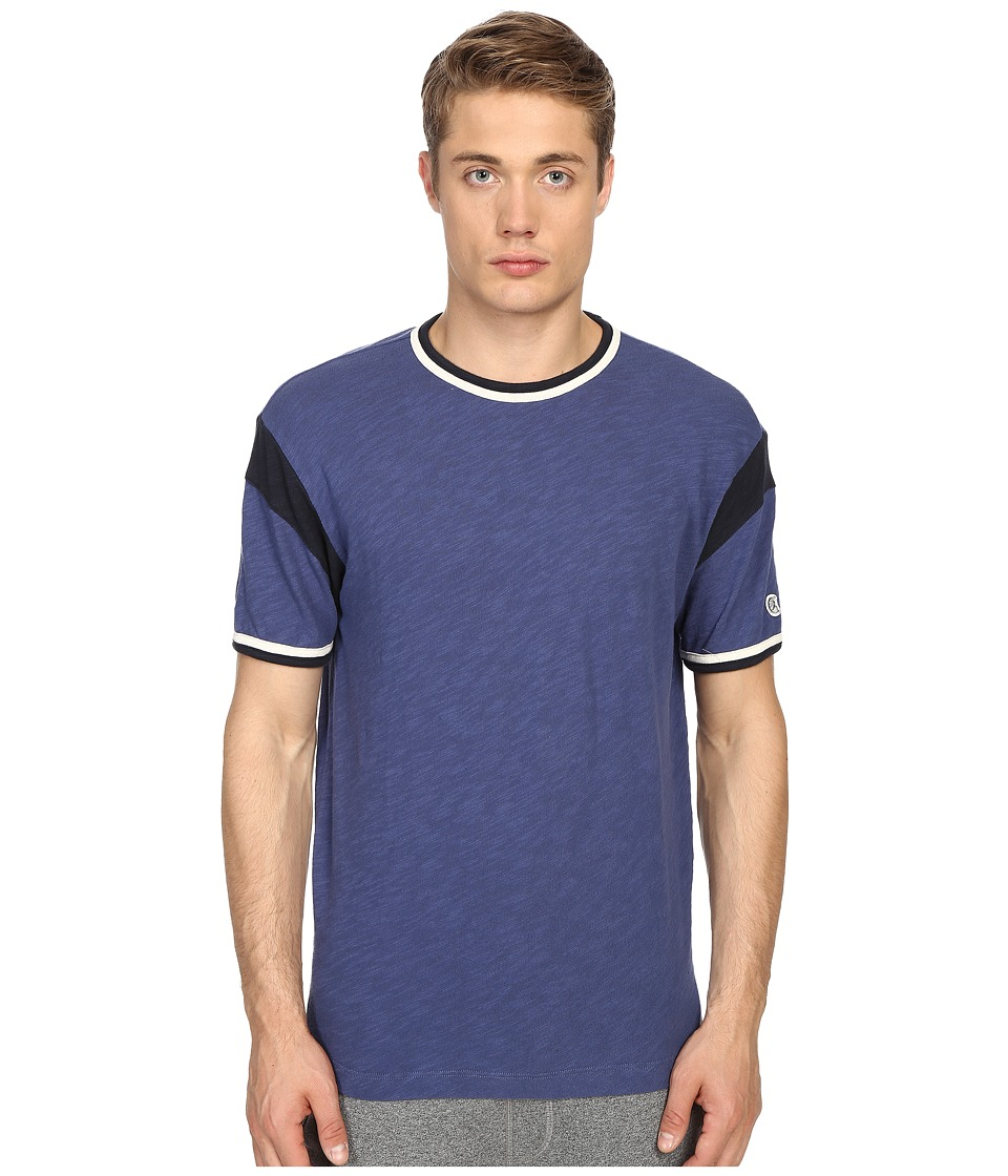Todd Snyder Champion Short Sleeve Armhole Tee Washed Royal Mens T Shirt
