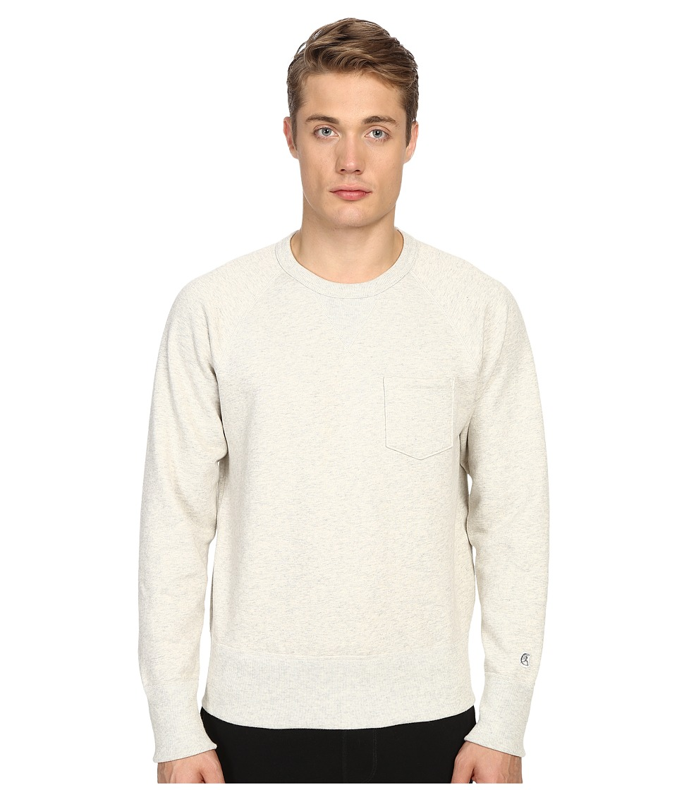 Todd Snyder Champion Pocket Sweatshirt Eggshell Mix Mens Sweatshirt