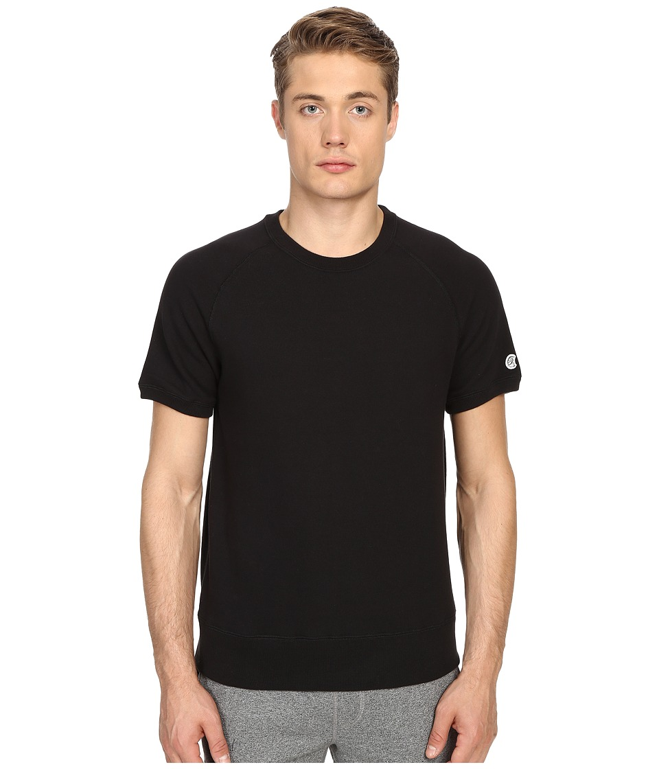 Todd Snyder Champion Short Sleeve Sweatshirt Black Mens Sweatshirt