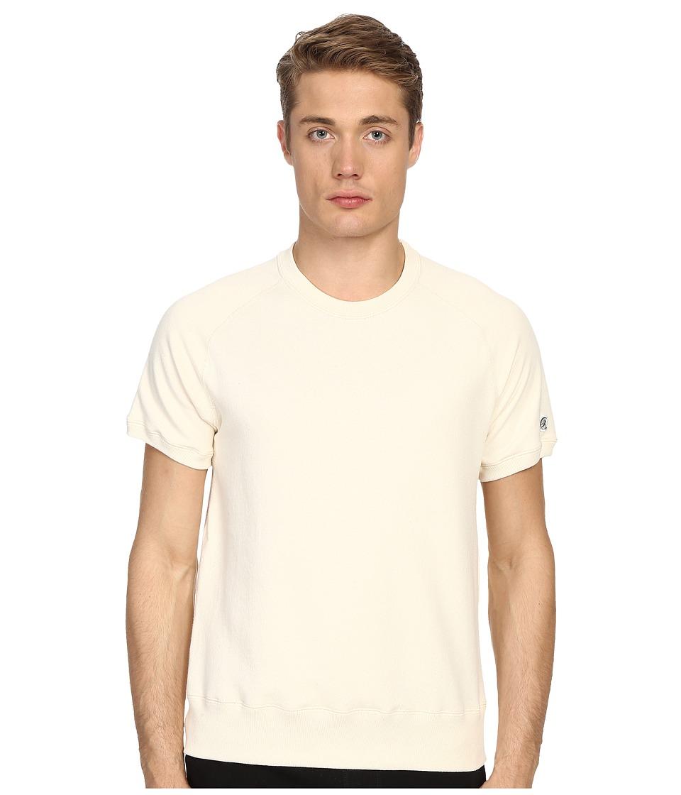 Todd Snyder Champion Short Sleeve Sweatshirt Vintage White Mens Sweatshirt