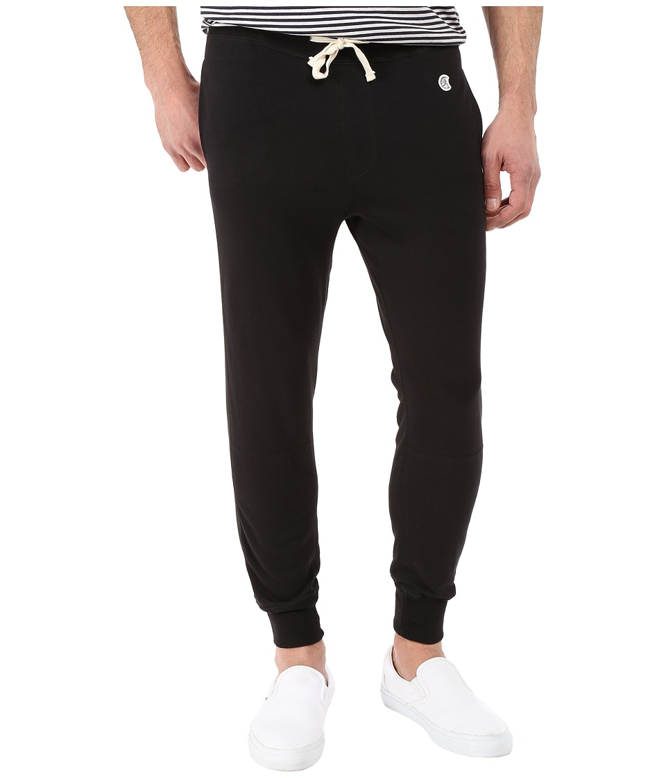 Todd Snyder Champion Faux Leather Side Stripe Sweatpants Black Mens Casual Pants