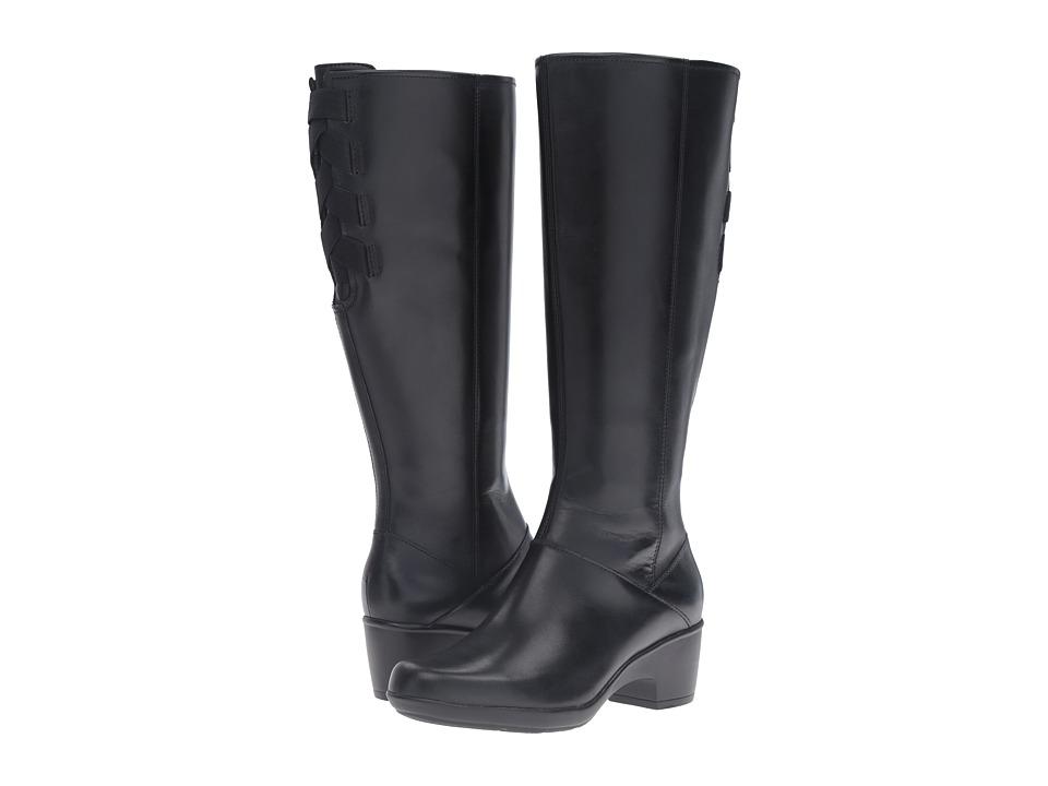 Clarks Malia Skylar Wide Shaft (Black Leather) Women