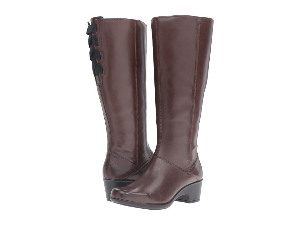 Clarks Malia Skylar Wide Shaft (Rich Brown Leather) Women
