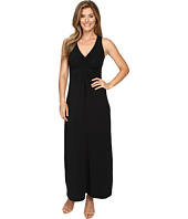 Mod-o-doc - Cotton Modal Spandex Jersey Shirred Front V-Neck Maxi Dress