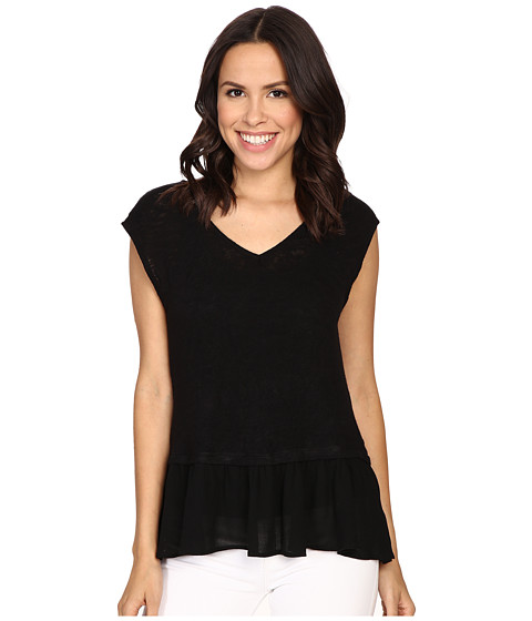 B Collection by Bobeau Kati Knit To Woven Layer Top