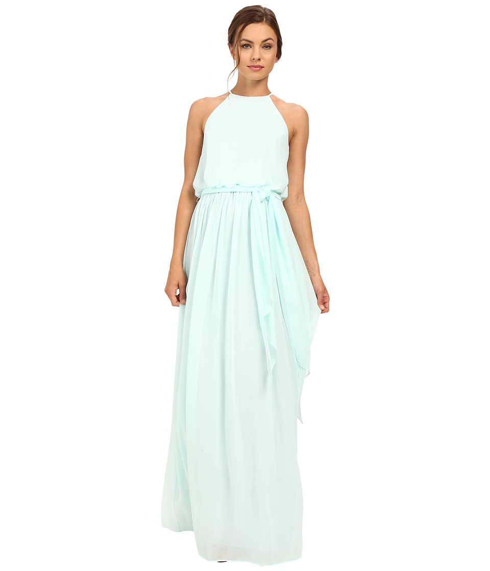 Donna Morgan Alana Drape Blouson Gown Beach Glass Womens Dress