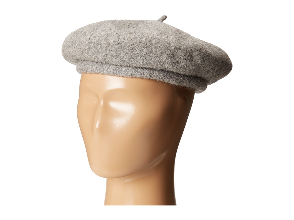 1940sStyleHats Brixton - Audrey Beret Heather Grey Berets $48.00 AT vintagedancer.com