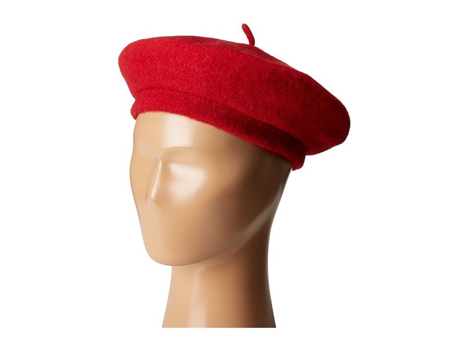 1940sStyleHats Brixton - Audrey Beret Red Berets $48.00 AT vintagedancer.com