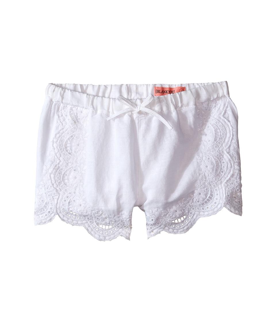 Blank NYC Kids Eyelet Elastic Shorts in White Big Kids White Girls Shorts