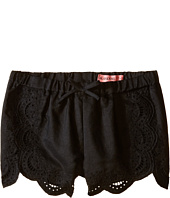 Blank NYC Kids - Eyelet Elastic Shorts in Black (Big Kids)