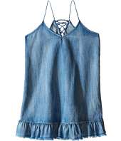 Blank NYC Kids - Ruffle Denim Dress (Little Kids/Big Kids)