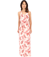 Bobeau - Camellia Palm Print Maxi Dress