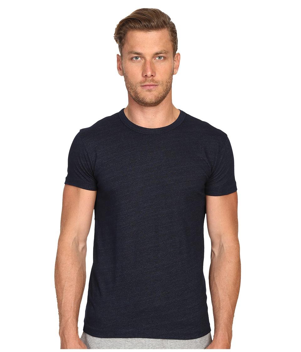 Todd Snyder Indigo Solid Crew T Shirt Indigo Mens T Shirt