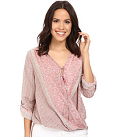 Bobeau - Remi Long Sleeve Surplice w/ Tie