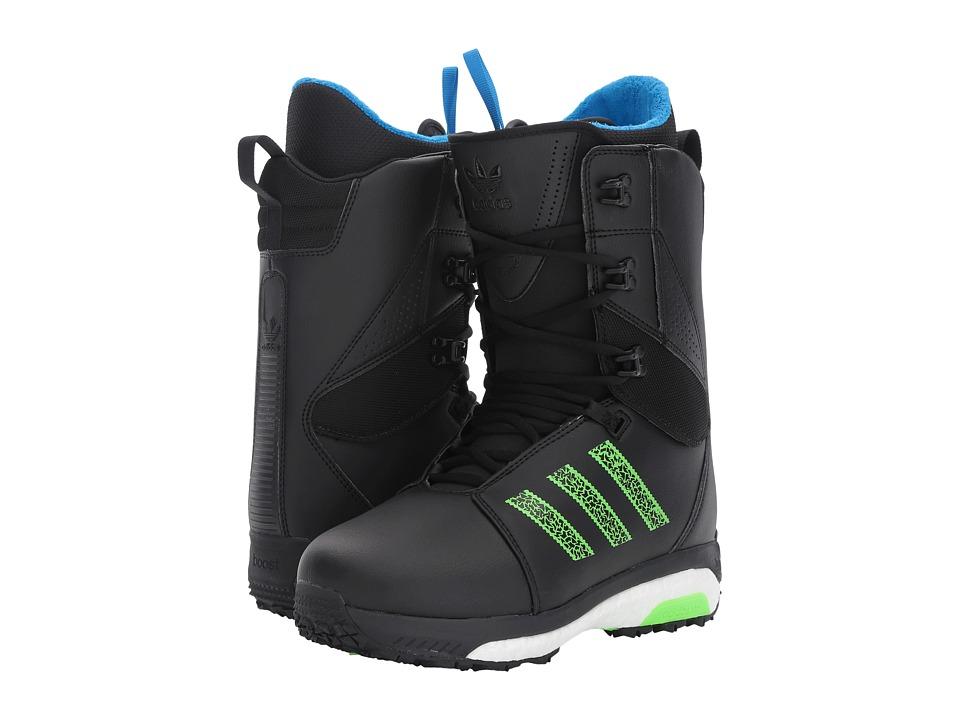 adidas Skateboarding Tactical Boost (Black/White/Solar Green) Men