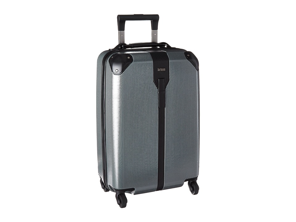 Hartmann - Herringbone Luxe Hardside - Carry-On Spinner (Black Herringbone) Carry on Luggage
