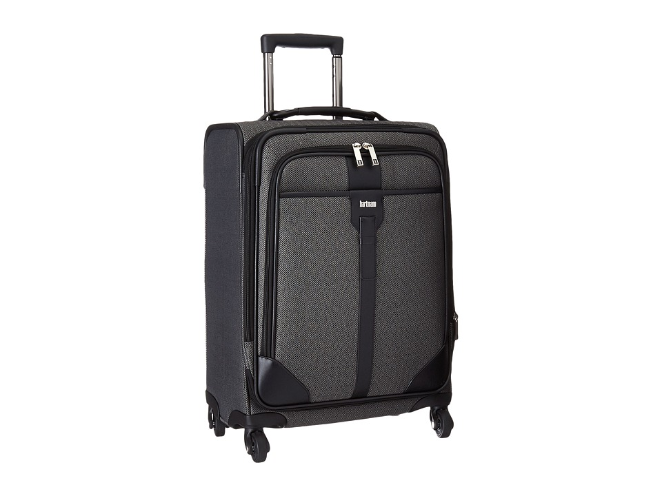 Hartmann - Herringbone Luxe - Carry-On Expandable Spinner (Black Herringbone) Carry on Luggage