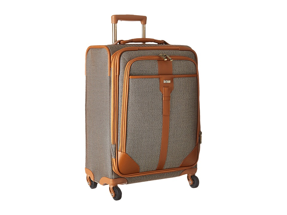 Hartmann - Herringbone Luxe - Carry-On Expandable Spinner (Terracotta Herringbone) Carry on Luggage
