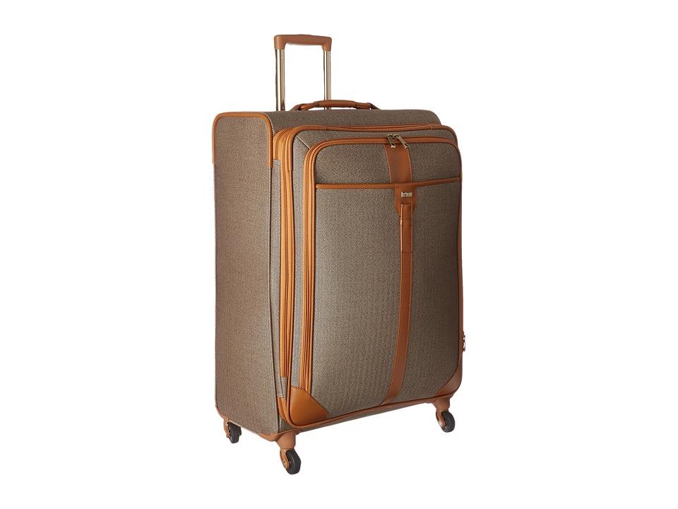 Hartmann Herringbone Luxe Long Journey Expandable Spinner Terracotta Herringbone Luggage