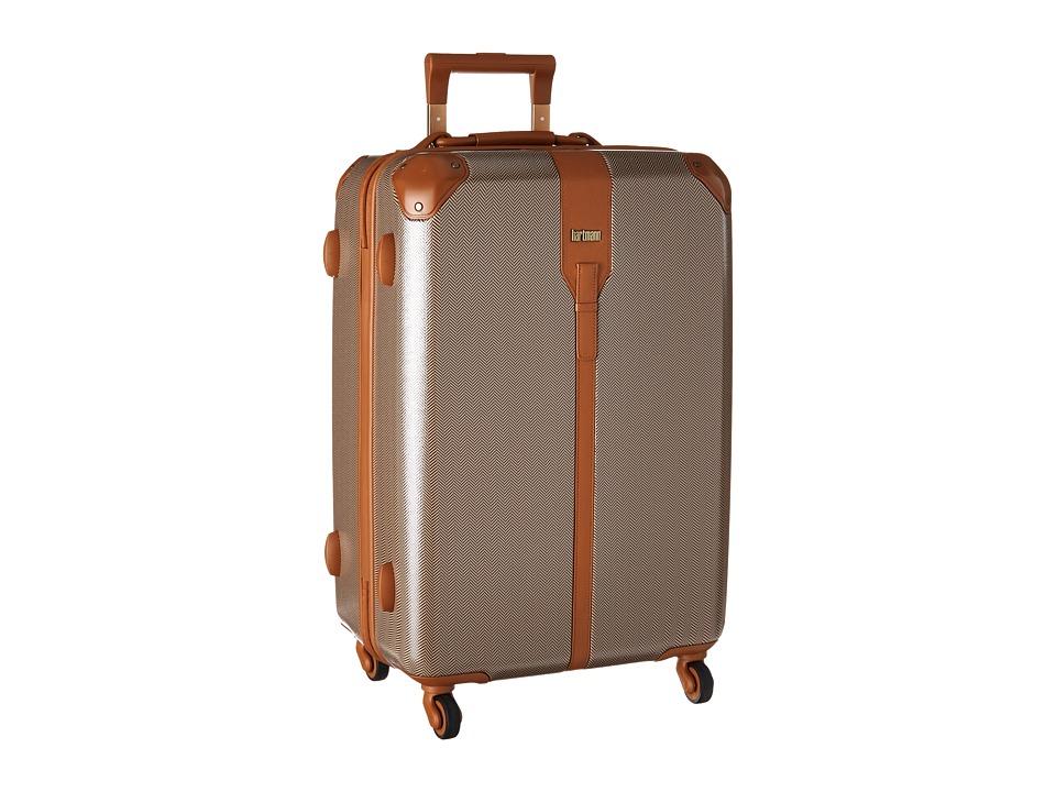 Hartmann Herringbone Luxe Hardside Medium Journey Spinner Terracotta Herringbone Luggage