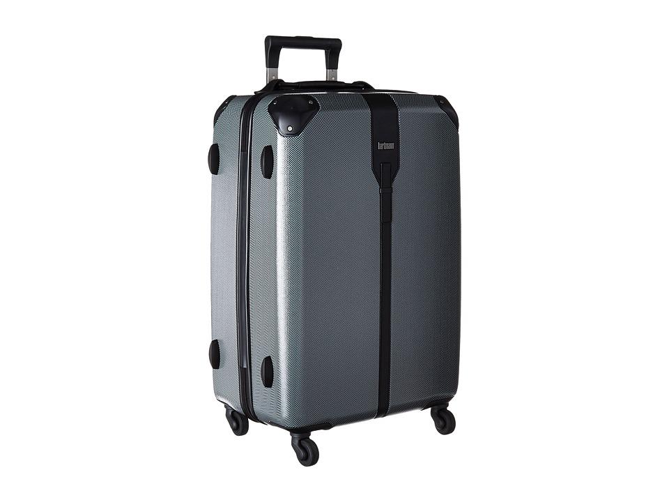 Hartmann Herringbone Luxe Hardside Medium Journey Spinner Black Herringbone Luggage