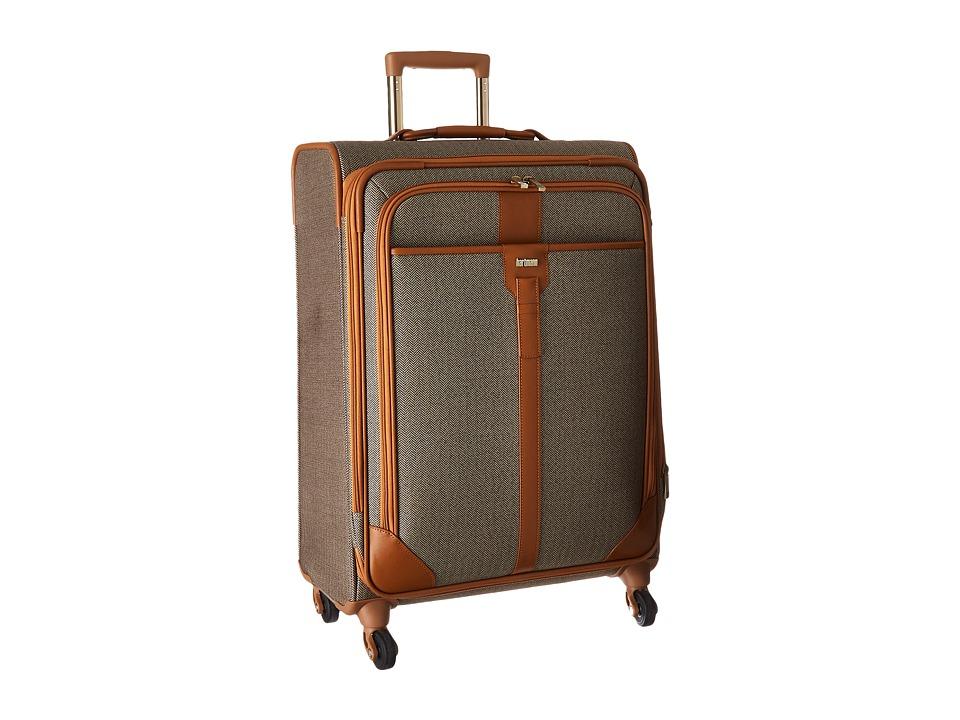 Hartmann Herringbone Luxe Medium Journey Expandable Spinner Terracotta Herringbone Luggage