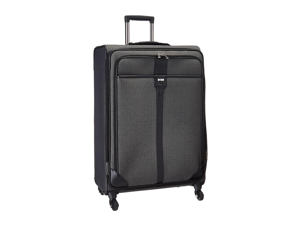 Hartmann Herringbone Luxe Long Journey Expandable Spinner Black Herringbone Luggage